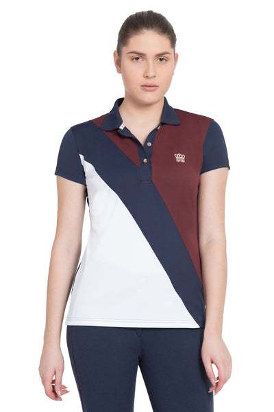 George H Morris Ladies Pro Sport Short Sleeve Polo Sport Shirt_4628