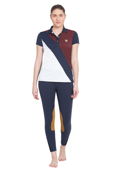George H Morris Ladies Pro Sport Short Sleeve Polo Sport Shirt_4632