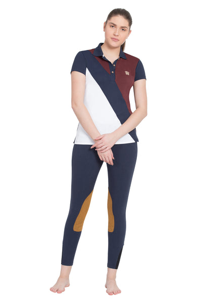 George H Morris Ladies Pro Sport Short Sleeve Polo Sport Shirt_4633