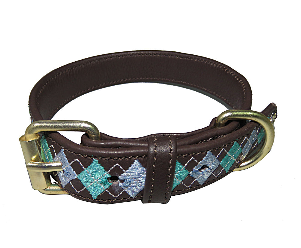 Halo Dog Collar - Leather with Buffy Dog Collar_2091