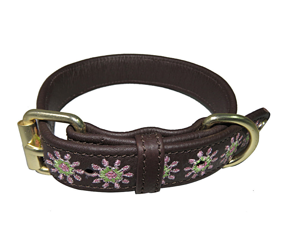 Halo Dog Collar - Leather with Ava Dog Collar_1