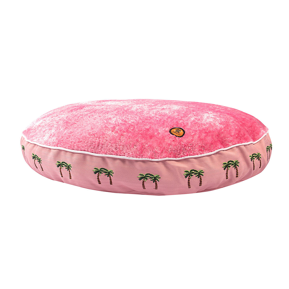 Halo Palm Trees Round Dog Bed_2748