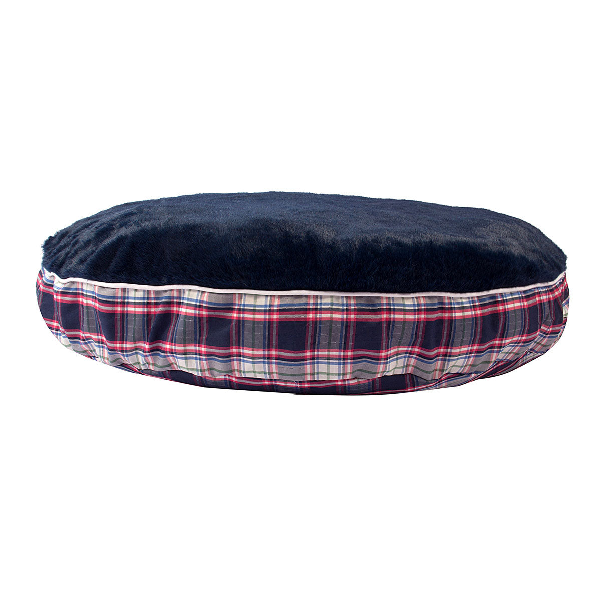 Halo Amber Plaid Round Dog Bed_1