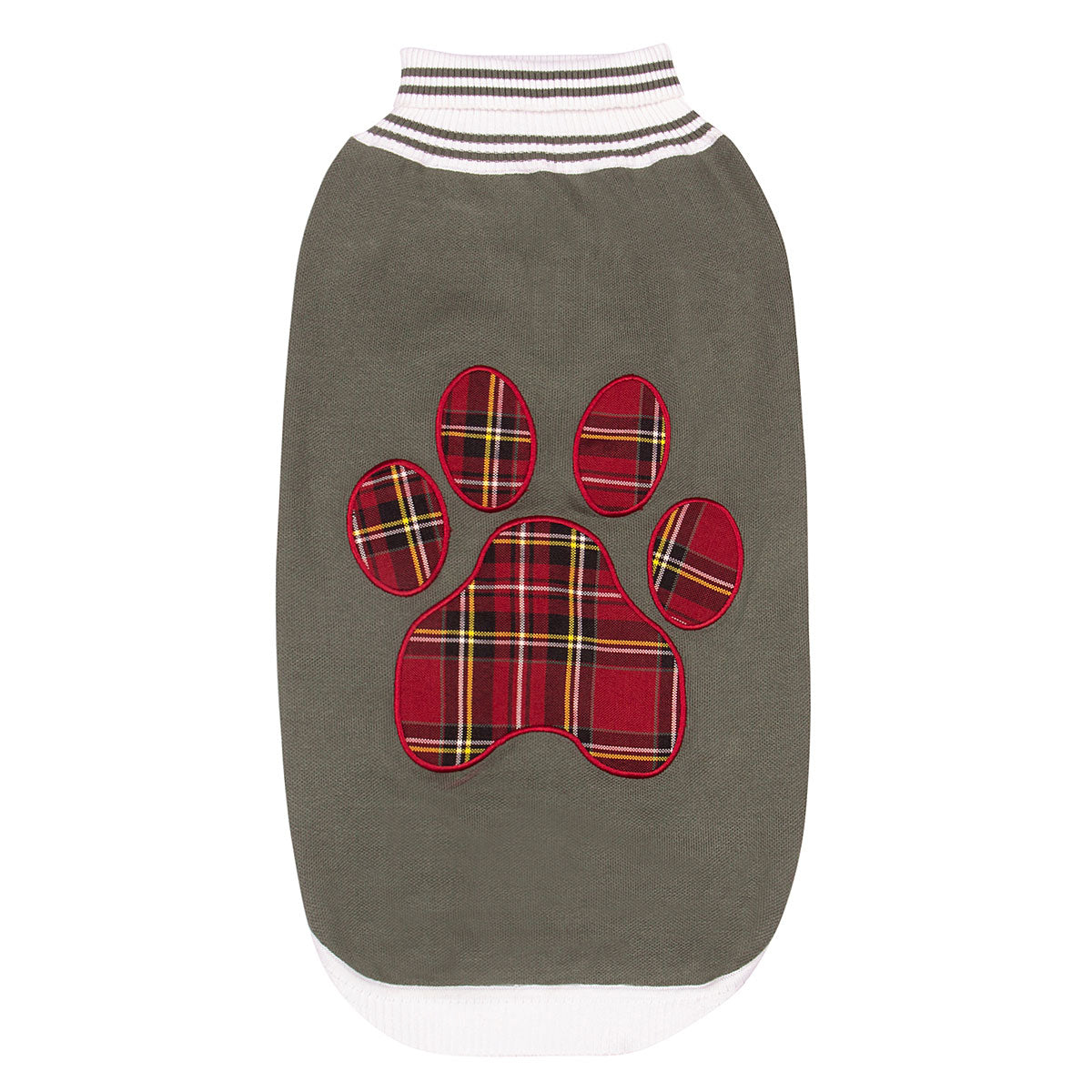 Halo Duck Green Plaid Paw Sweater_2247
