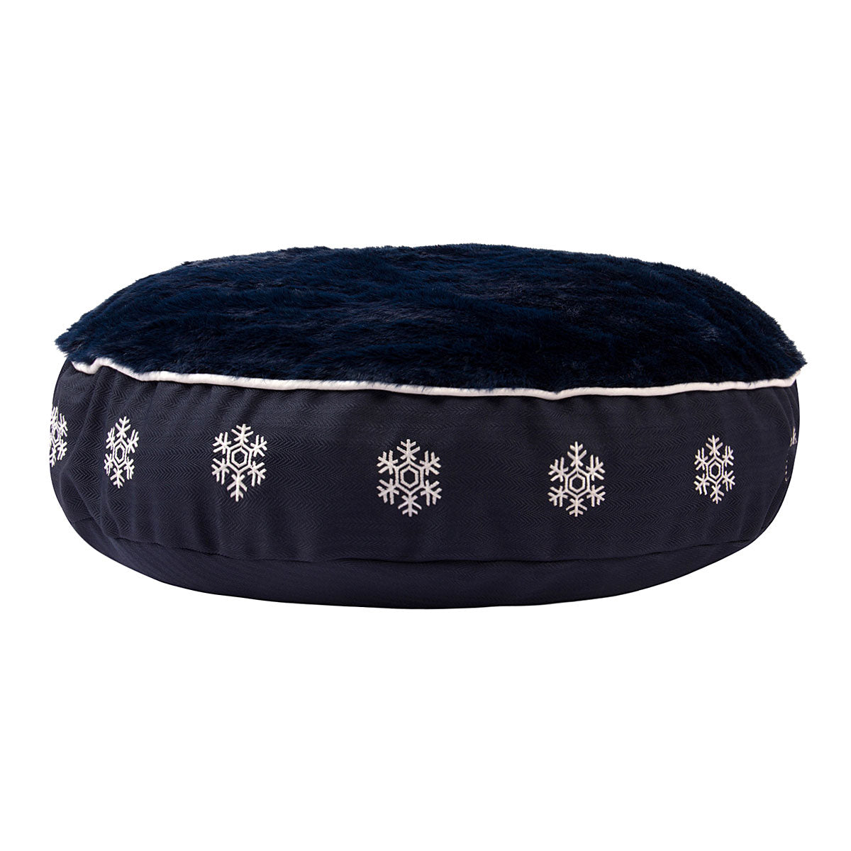 Halo Snowflake Round Dog Bed_2792
