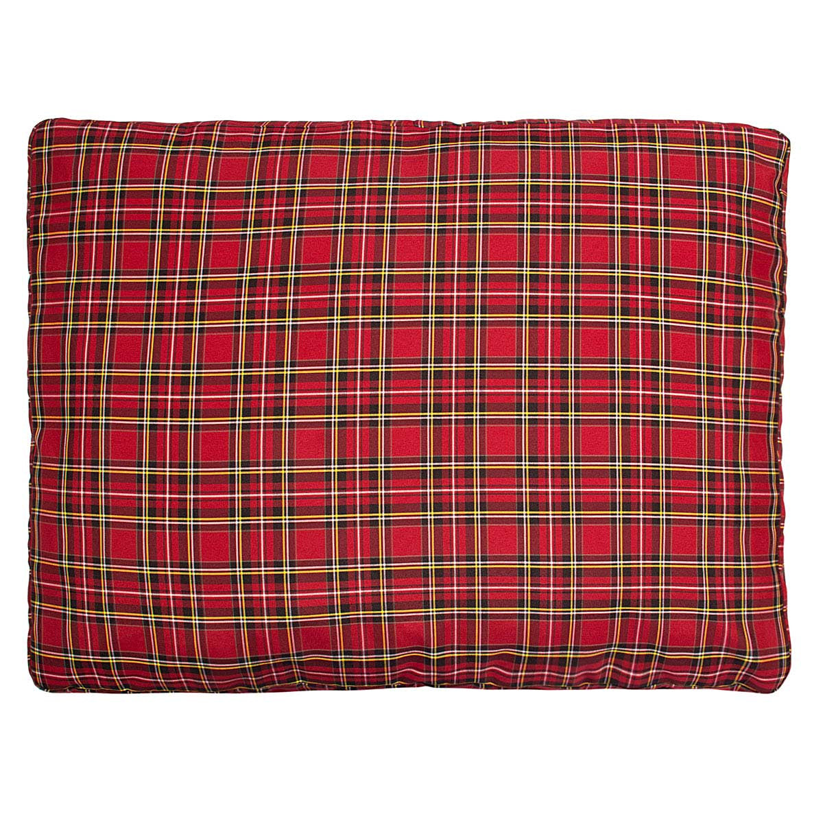 Halo EC Red Plaid Rectangular Dog Bed_2