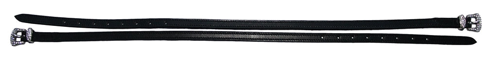 "Henri de Rivel Leather Spur Strap with Diamond Square Buckle 18""_265"