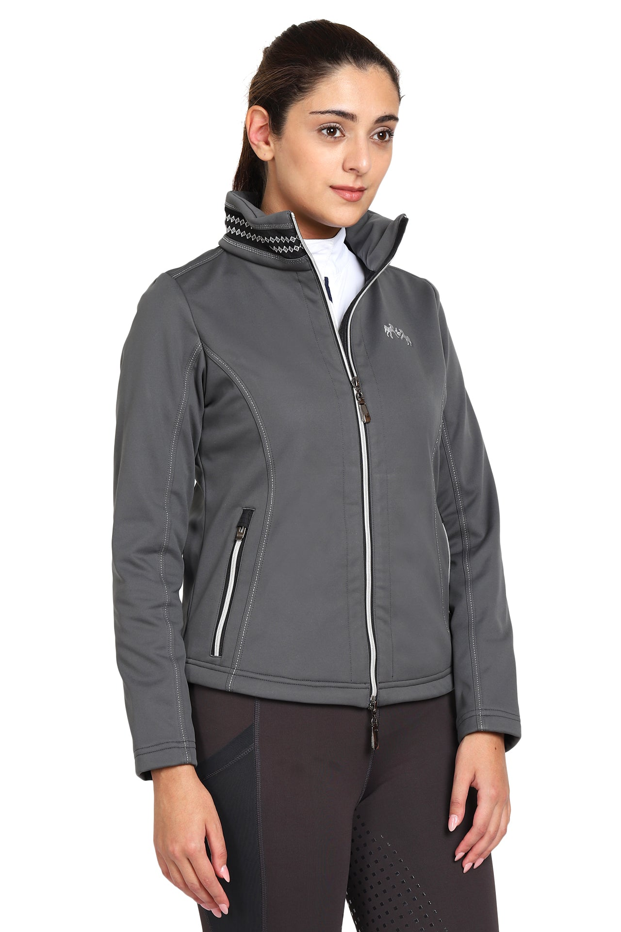 EQUINE COUTURE LADIES BECCA SOFT SHELL JACKET WITH FLEECE_1