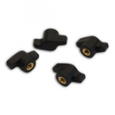 Pyranha Brass Centred Wingnuts 6mm - Pack of 4