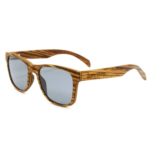 dewerstone Sumbawa Wooden Sunglasses - ZEISS Lightpro Polarized Lenses - Zebra