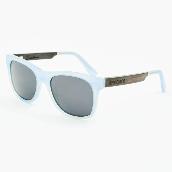 Dewerstone Bantham Low Tide Wood & Acetate Polarized Sunglasses - Opel Blue