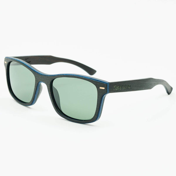 Dewerstone Tamar Wooden Polarized Sunglasses - Black Smoke