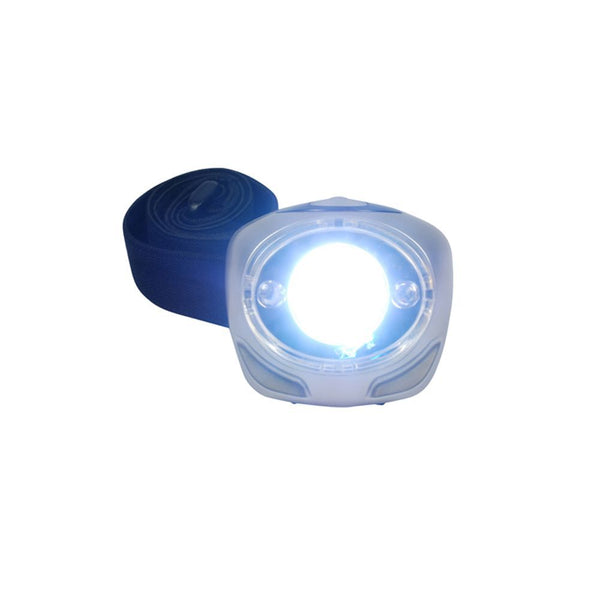 NiteSafe Headlight LED Rechargable Headlamp - Silver