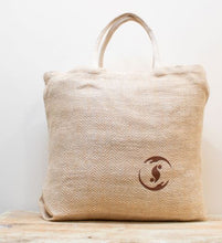 Load image into Gallery viewer, 'Care-e-All' Jute Tote