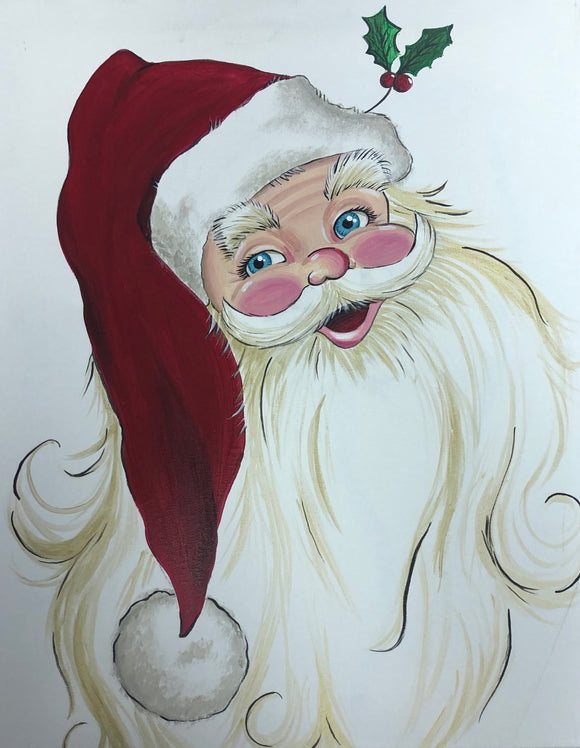Painting with Santa
