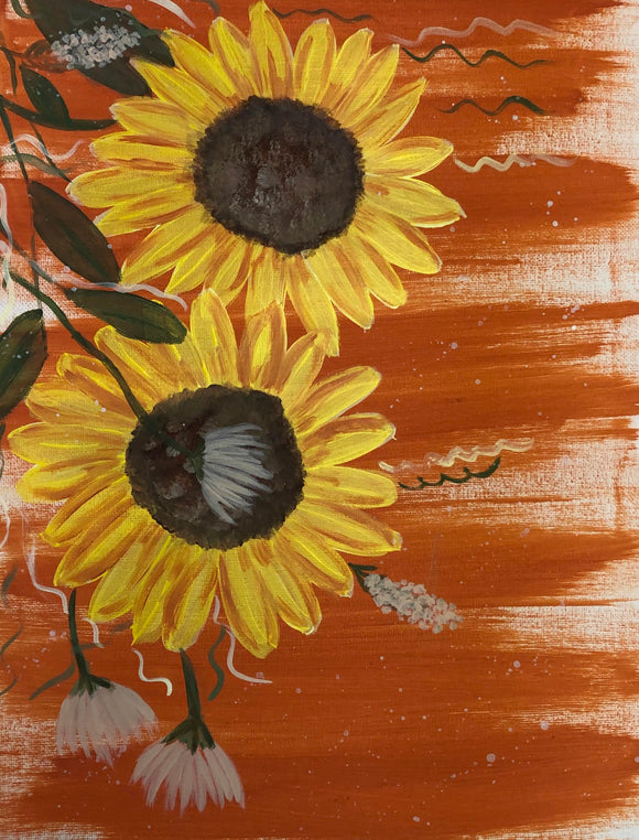 Falling Sunflower
