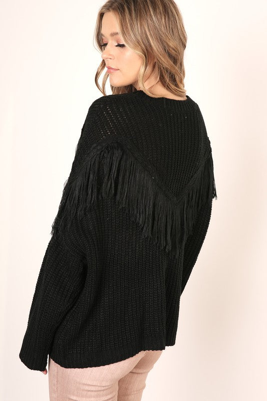 Call Me Fringe Sweater