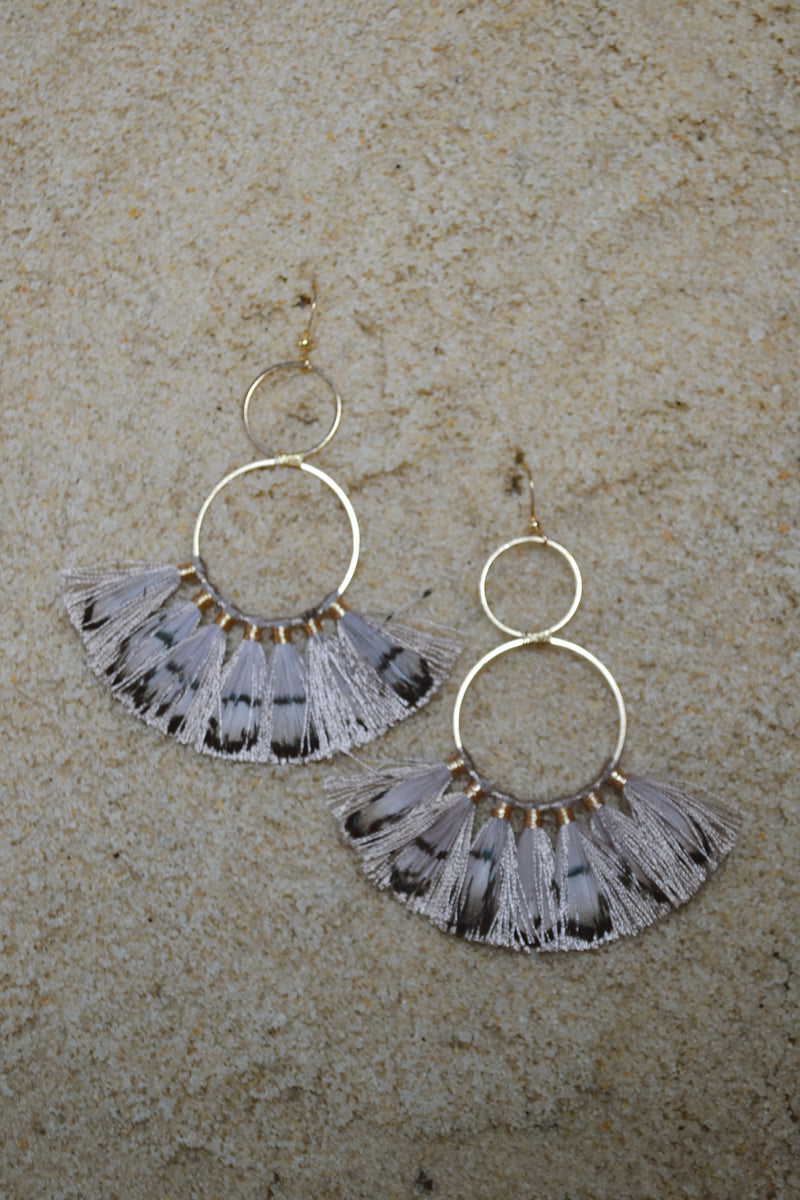 Chelsea Feather Earrings