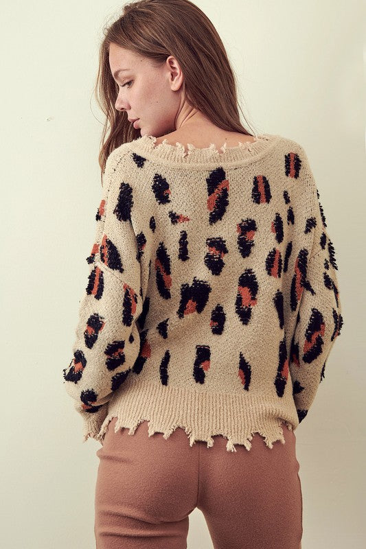 Joelle Leopard Sweater