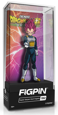 FiGPiN DRAGON BALL SUPER BROLY MOViE SUPER SAiYAN GOD VEGETA #192