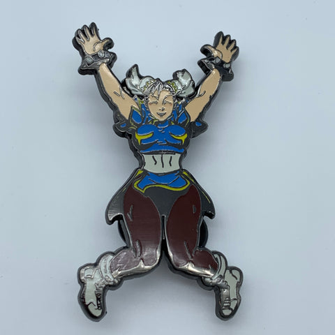 CHUN-Li WiNNiNG POSE STREET FiGHTER 2 TURBO SDCC 2017 UDON EXCLUSiVE ENAMEL PiN