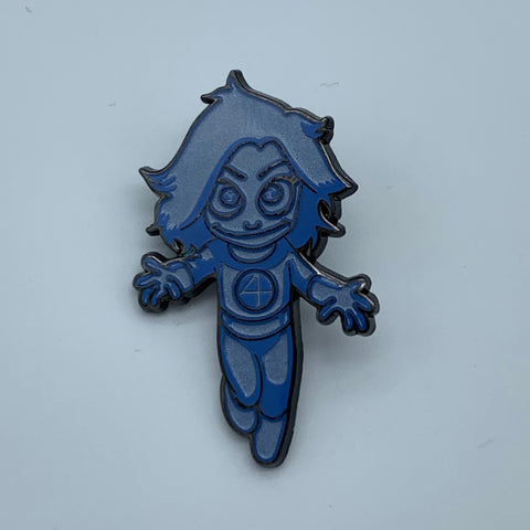 SKOTTiE YOUNG iNViSiBLE WOMAN CHASE VARiANT SDCC 2018 MARVEL EXCLUSiVE ENAMEL PiN
