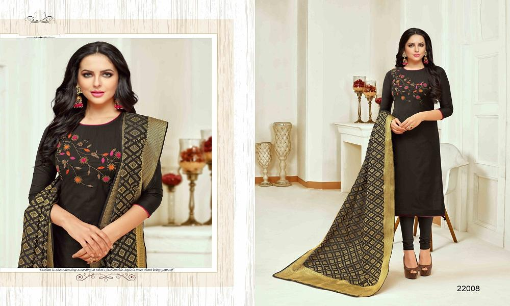 Adhesive Black Color Salwar Suit
