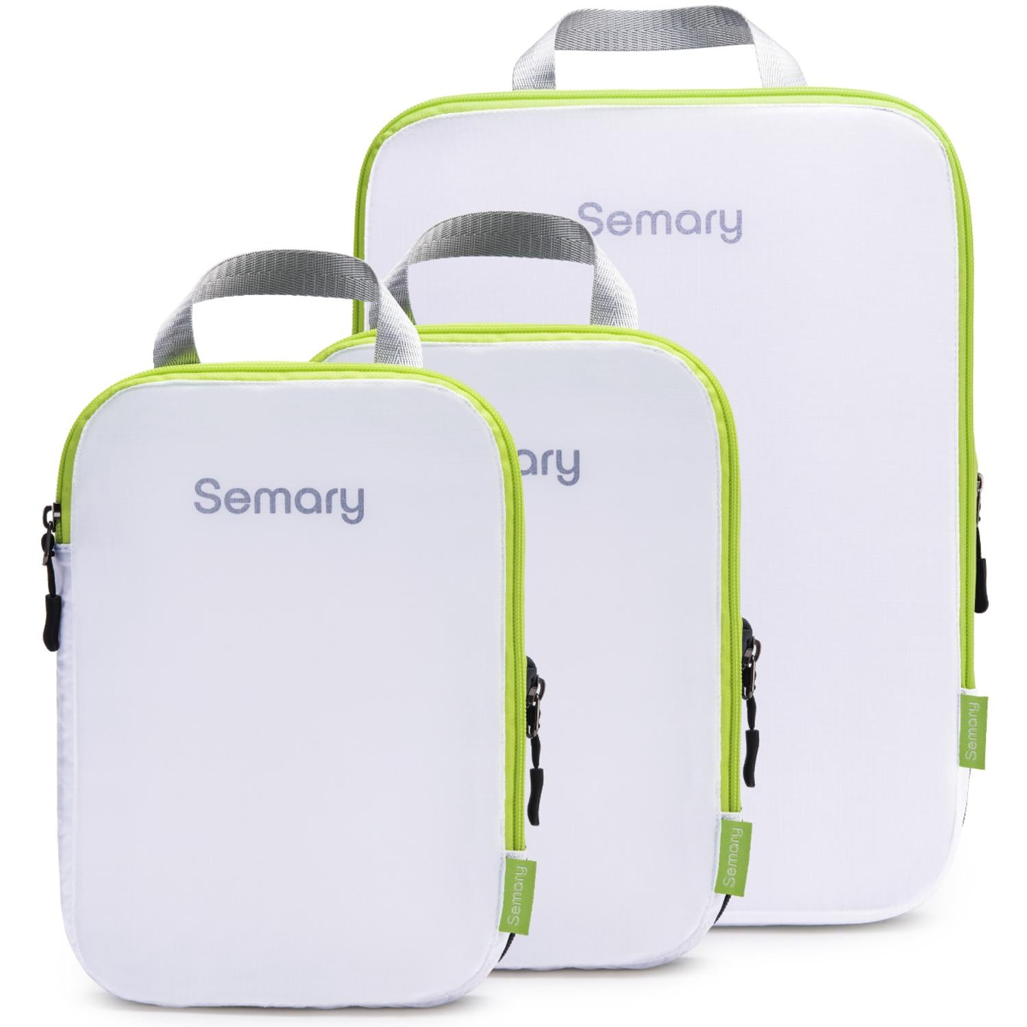 Compression Packing Cubes 3 Set Travel Organizer Accessories for Carryon Luggage Suitcase & Backpack by Semary