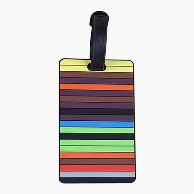 Travel Accessories Creative Baggage Boarding Tags Luggage Tag Letter Cartoon Silica Gel Suitcase ID Addres Holder Portable Label