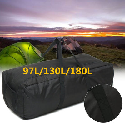 Outdoor Large Duffle Bags Waterproof Oxford Foldable Luggage Handbag Men Backpack Storage Pouch Tote 97/130/180L Camping Travel