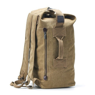 Kissyenia Canvas Travel Duffle Bag Men Military 55cm High Capacity Travel Backpack Handle Luggage Backpack Overnight Bags KS1020