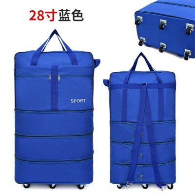 Baggage Checked Abroad Learning Outdoor Universal Walking Wheel Collapsible Luggage Storage Bag Mobile Rolling Backpack