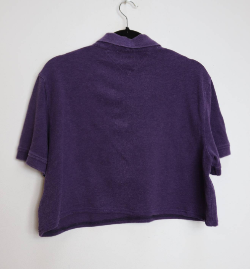 Purple Tommy Hilfiger Crop Top - XL