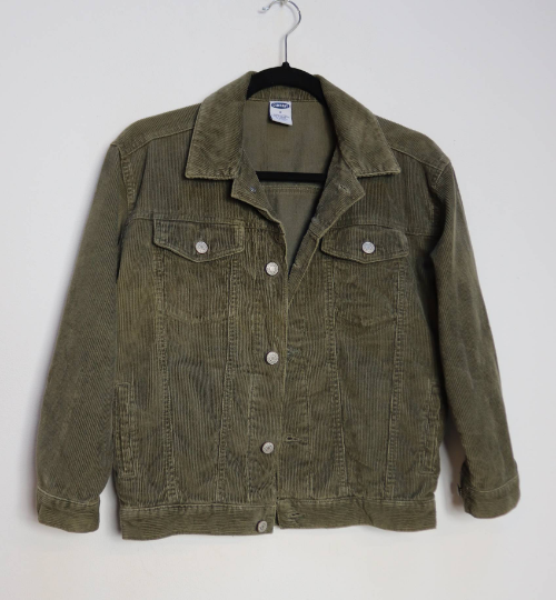 Dark Green Corduroy Jacket - S