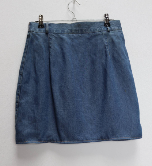 Blue Denim Mini-Skirt - S