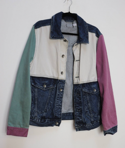 Navy Blue Cable-Knit Jumper - L