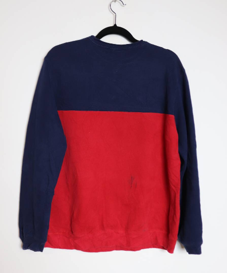 Navy Blue + Red Star Sweatshirt - M
