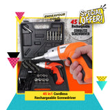 45pcs-in-1 Cordless Rechargeable Screwdriver (FLASH SALE 2020)