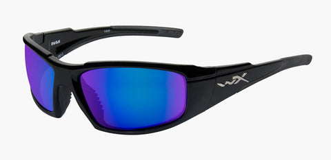 Wiley X Active WX Rush (Pol Blue Mirror/Gloss Black Frames)