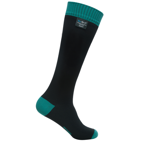 Dexshell Waterproof Wading Socks (with in-cuff seal) Black with Sea Green,