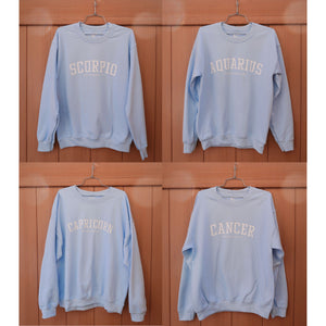 Mantra Zodiac Crewneck Sweater (Sky Blue)