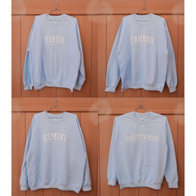 Load image into Gallery viewer, Mantra Zodiac Crewneck Sweater (Sky Blue)