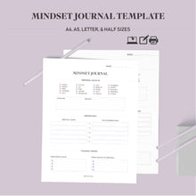 Load image into Gallery viewer, Mindset Journal Template