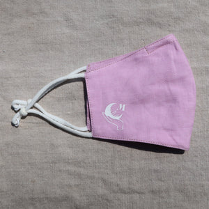 The Mantra Co. Linen Face Mask (Lavender)