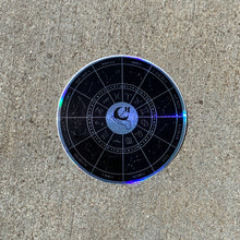 Load image into Gallery viewer, Holographic Zodiac Wheel Sticker (Black)