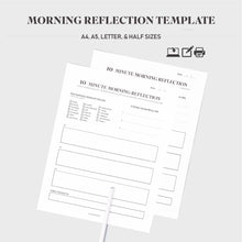 Load image into Gallery viewer, Morning Reflection Template