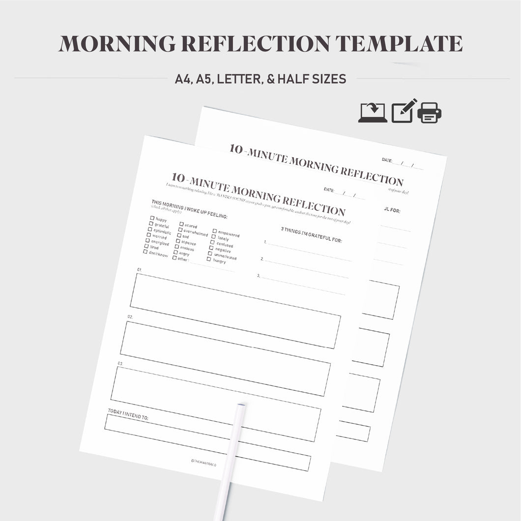 Morning Reflection Template