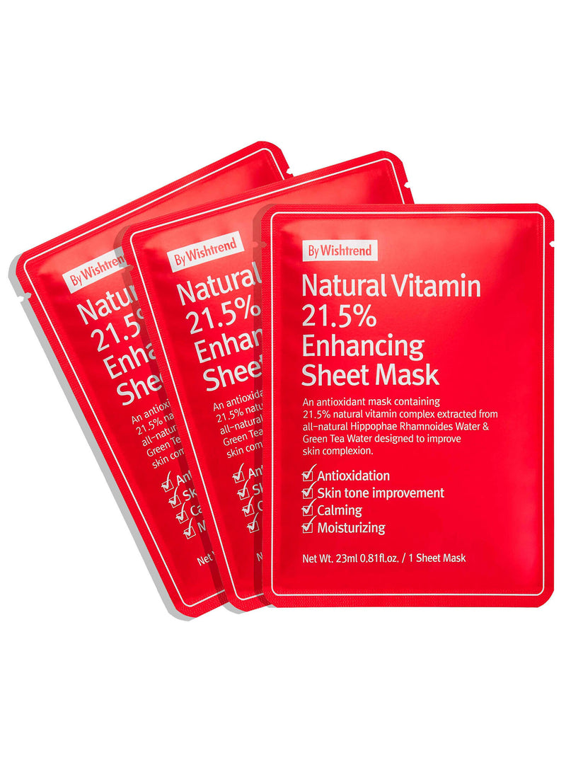 Natural Vitamin 21.5% Enhancing Sheet Mask