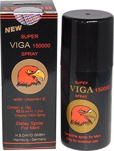 Super Viga 150000 Delay Spray Black Bottle