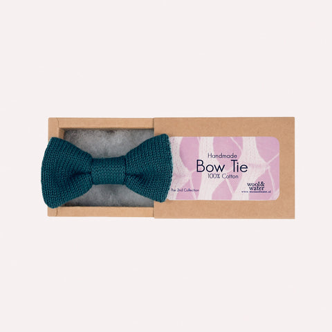 Bow Tie: Aqua Green Two Tone